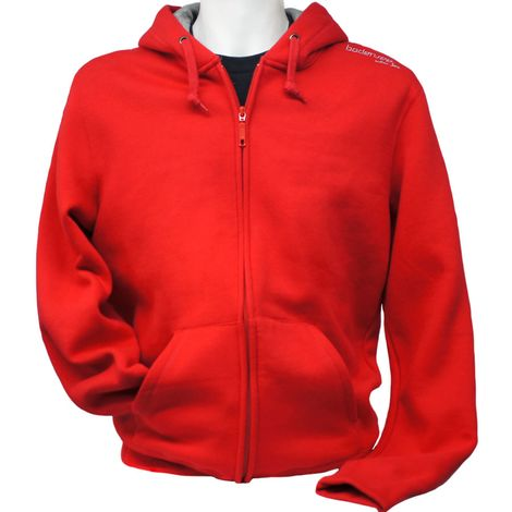 Bodensee Pullover Hoody mit Zipper Kirchberg, rot, S